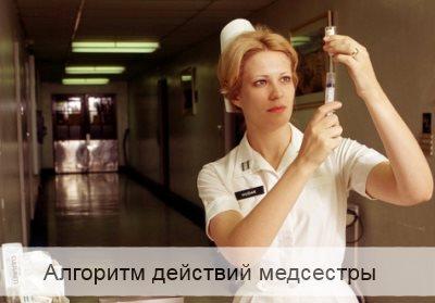 Алгоритм действий медсестры при анафилактическом шоке