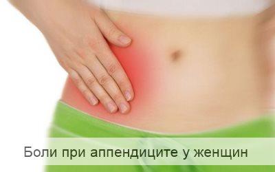 боли при аппендиците у женщин