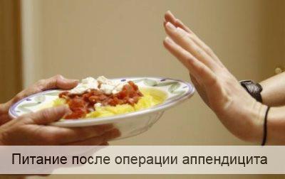 что можно кушать после операции удаления аппендицита