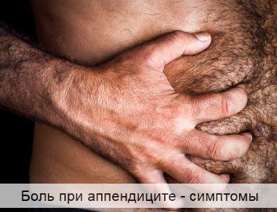 Боль при аппендиците симптомы